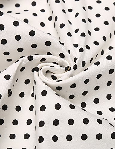 Arshiner Kids Girl O-Neck Long Sleeve Above Knee Polka Dot Bow-Tie Autumn Winter Dress