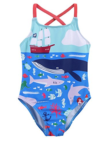 Arshiner Girls One Piece Swimsuit Beach Sport Cross Straps Swimwear