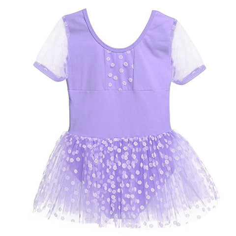 Arshiner Girls Short Sleeve Ballet Leotard Tutu Dance Dress