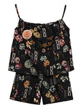 Arshiner Little Girls Floral Camisole Vest Top + Shorts Set