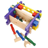 Arshiner Wooden Tool Kits Workbench Play Carpentry Construction Toy Set