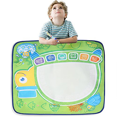 Arshiner Water Drawing Mat Writing Canvas with Magic Pen Doodle Kids Educational Toy