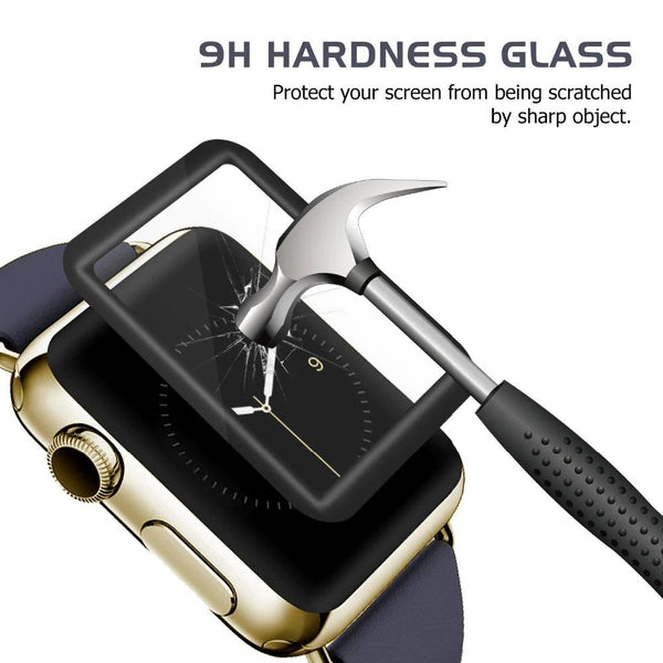 Full Cover Apple Watch Screen Protector Soft Edge Full Gel Glass Film For Apple Watch 4321 38/40/42/44mm Screen