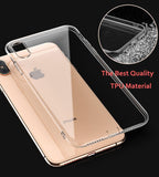 Luxury Clear Soft Silicone TPU Transparent Case for iPhone X XS MAX XR