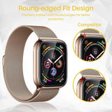 Transparent Screen Protector Full Coverage Protective Film For iWatch 4 40MM 44MM Non-tempered Glass For Apple Watch 3 2 1 38MM 42MM