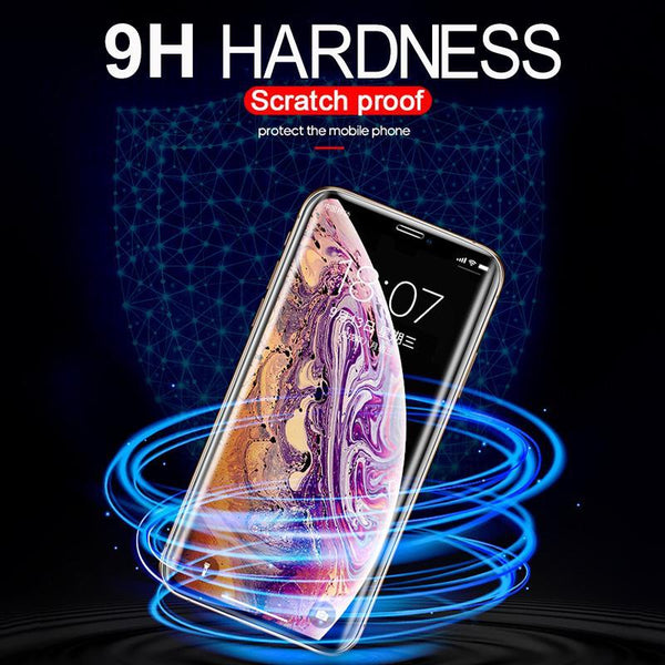 Nano Liquid vision Protection UV Glue Tempered Glass For iPhone XS MAX XR X Screen Protector  With UV Light +Glue