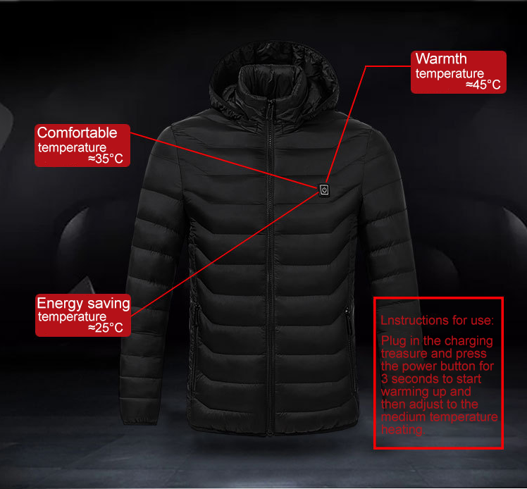 (Christmas Promotion-50% OFF)Unisex Warming Heated Coat With Sleeves-Free Shipping Now