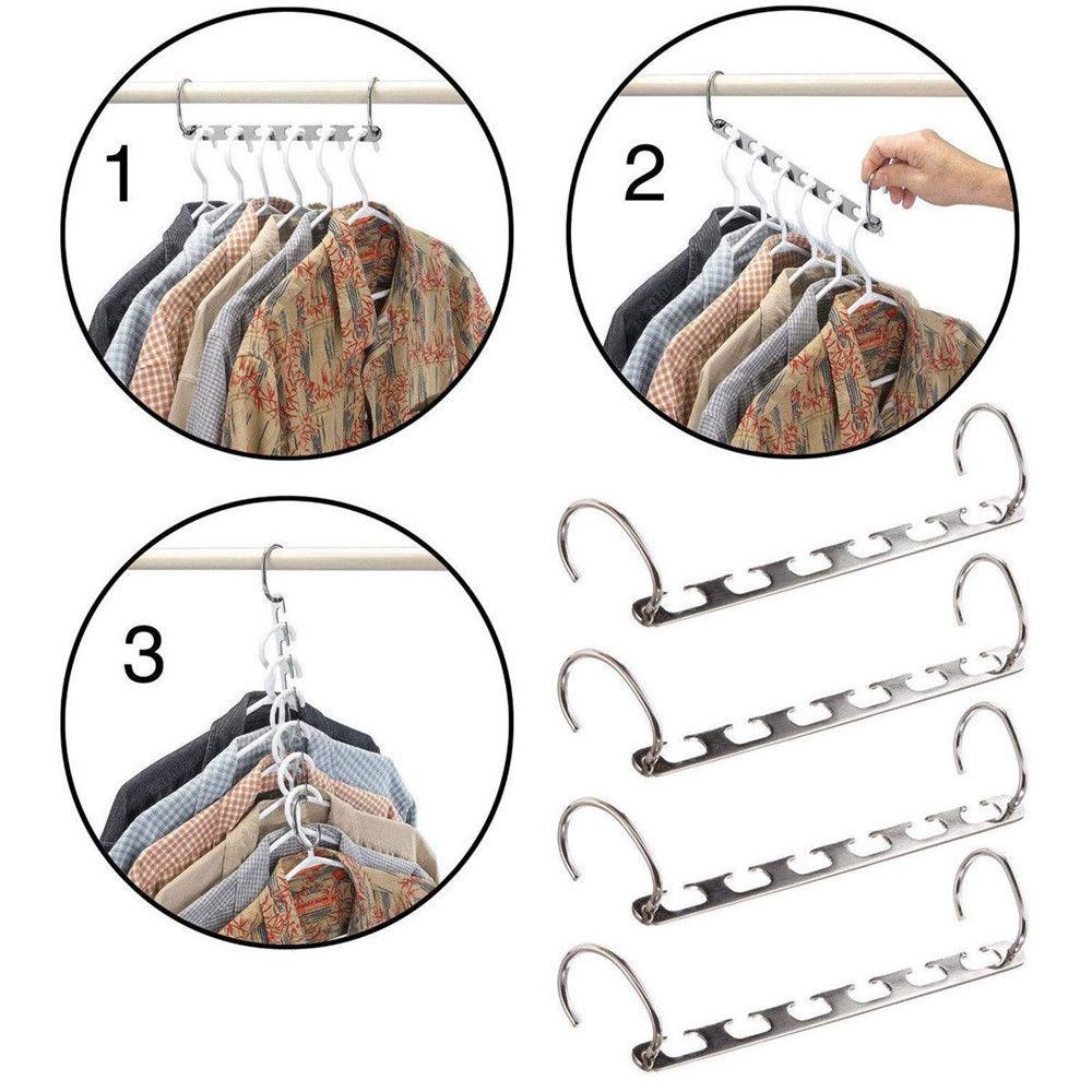 (Great Promotion Today) Magic Hangers Closet Space Saving ( Plastic and Metal ) - yanczi