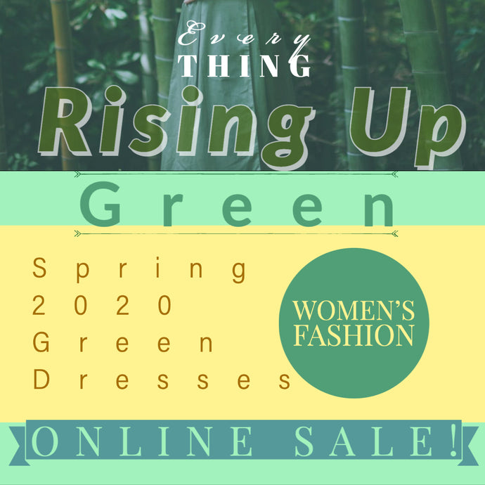 Everything is Rising Up Green 🌱Spring Dresses