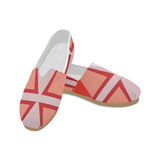 Shades of Red Patchwork Women's Casual Shoes (Model 004)