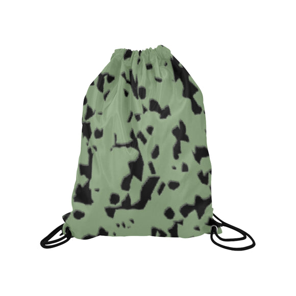 Swamp Green Norway Medium Drawstring Bag Model 1604 (Twin Sides) 13.8