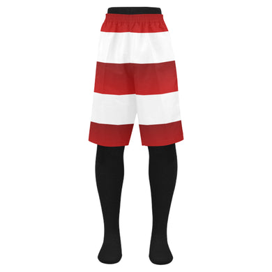 Red White Stripes Men's Swim Trunk (Model L21)