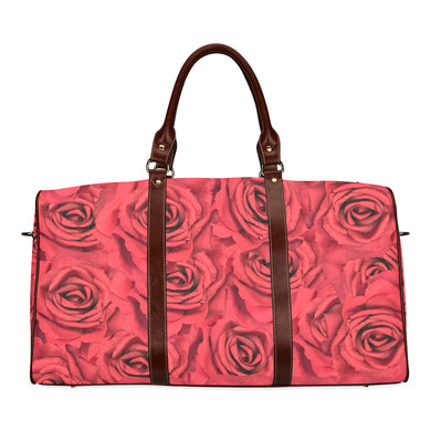 Radical Red Roses Waterproof Travel Bag/Small (Model 1639)