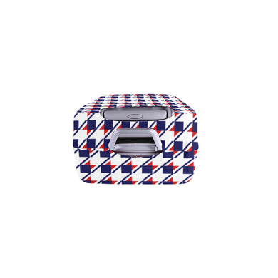 Red White Blue Houndstooth Luggage Cover/Small 24'' x 20''