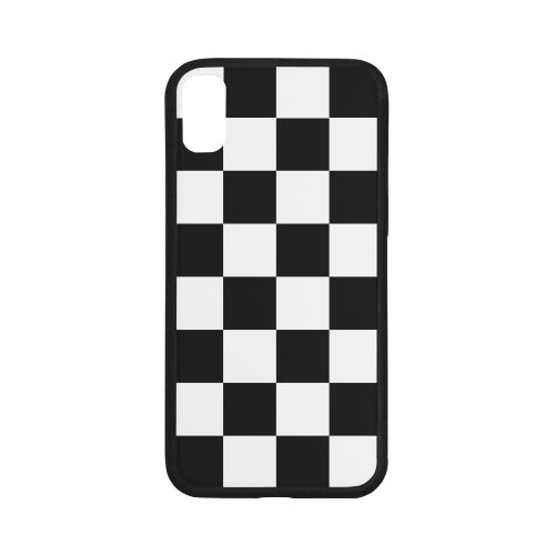 Black White Checkers iPhone X Case