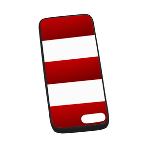"Red White Stripes iPhone 7 plus (5.5"") Case"