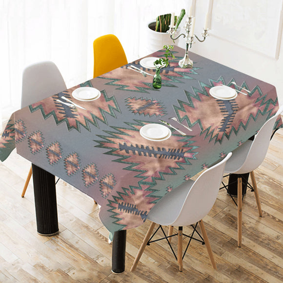 Raven Pale Sky Cotton Linen Tablecloth 52