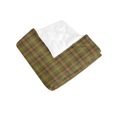 Golden Olive Plaid Quilt 40