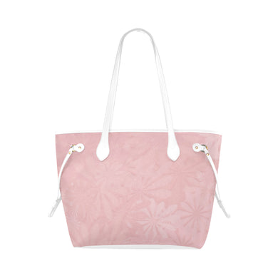 Mandys Pink Azaleas Clover Canvas Tote Bag (Model 1661)