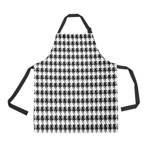 Black White Houndstooth All Over Print Apron