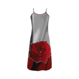 Two Tone Silk Rose Alcestis Slip Dress (Model D05)