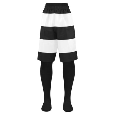 Black White Stripes Men's Swim Trunk (Model L21)