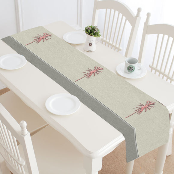 Cheery Coral Pink Table Runner 14x72 inch