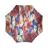 Red White Blue Flora Foldable Umbrella