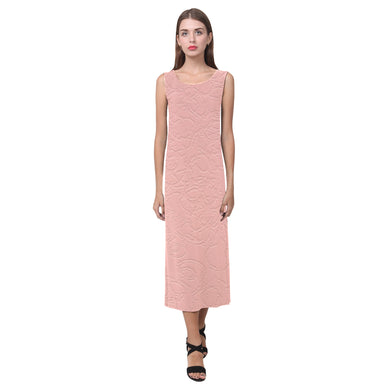 Sea Pink Sundown Phaedra Sleeveless Open Fork Long Dress (Model D08)
