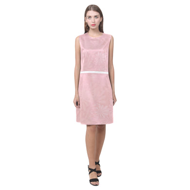 Mandys Pink Azaleas Eos Women's Sleeveless Dress (Model D01)