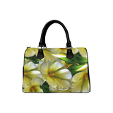 Elegant in Cream Flowers Boston Handbag (Model 1621)
