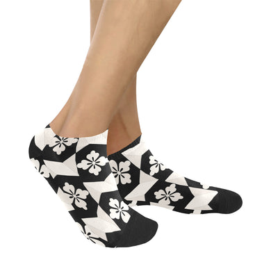 Black White Tiles Women's Ankle Socks