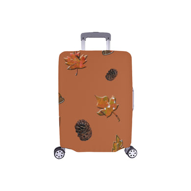 Leaves Pine Cones Luggage Cover/Small 24'' x 20''