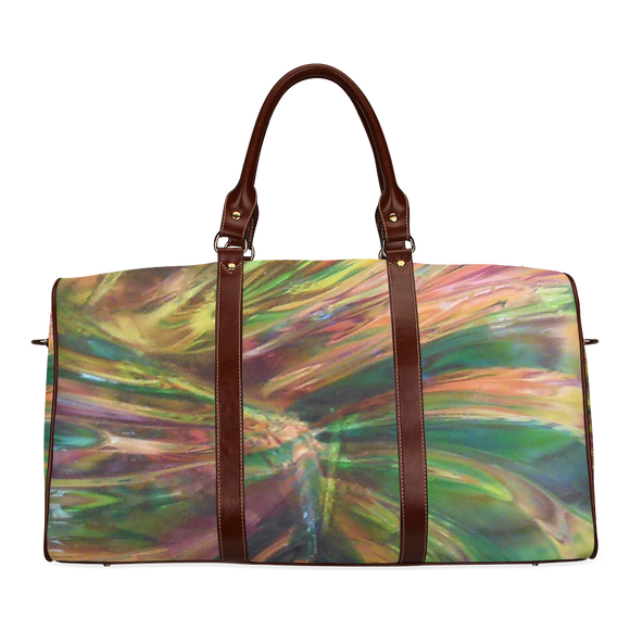 Abstract Colorful Glass Waterproof Travel Bag/Small (Model 1639)