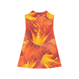 Orange Daylilies Alcestis Slip Dress (Model D05)