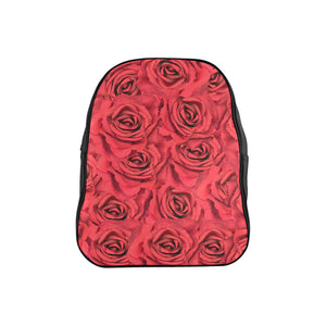 Radical Red Roses School Backpack (Model 1601)(Medium)