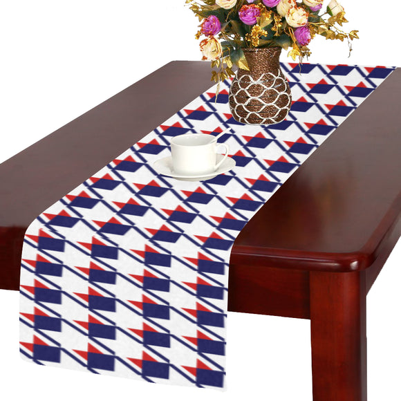 Red White Blue Houndstooth Table Runner 14x72 inch