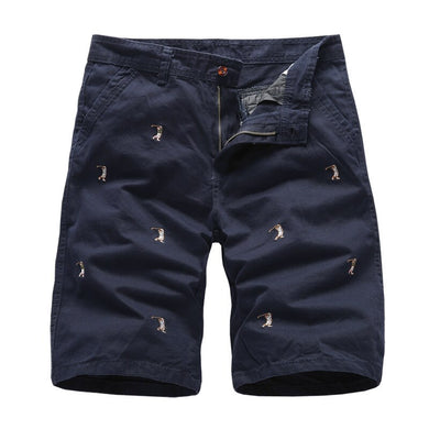 Men's Cargo Embroidery 100% Cotton Cargo Shorts