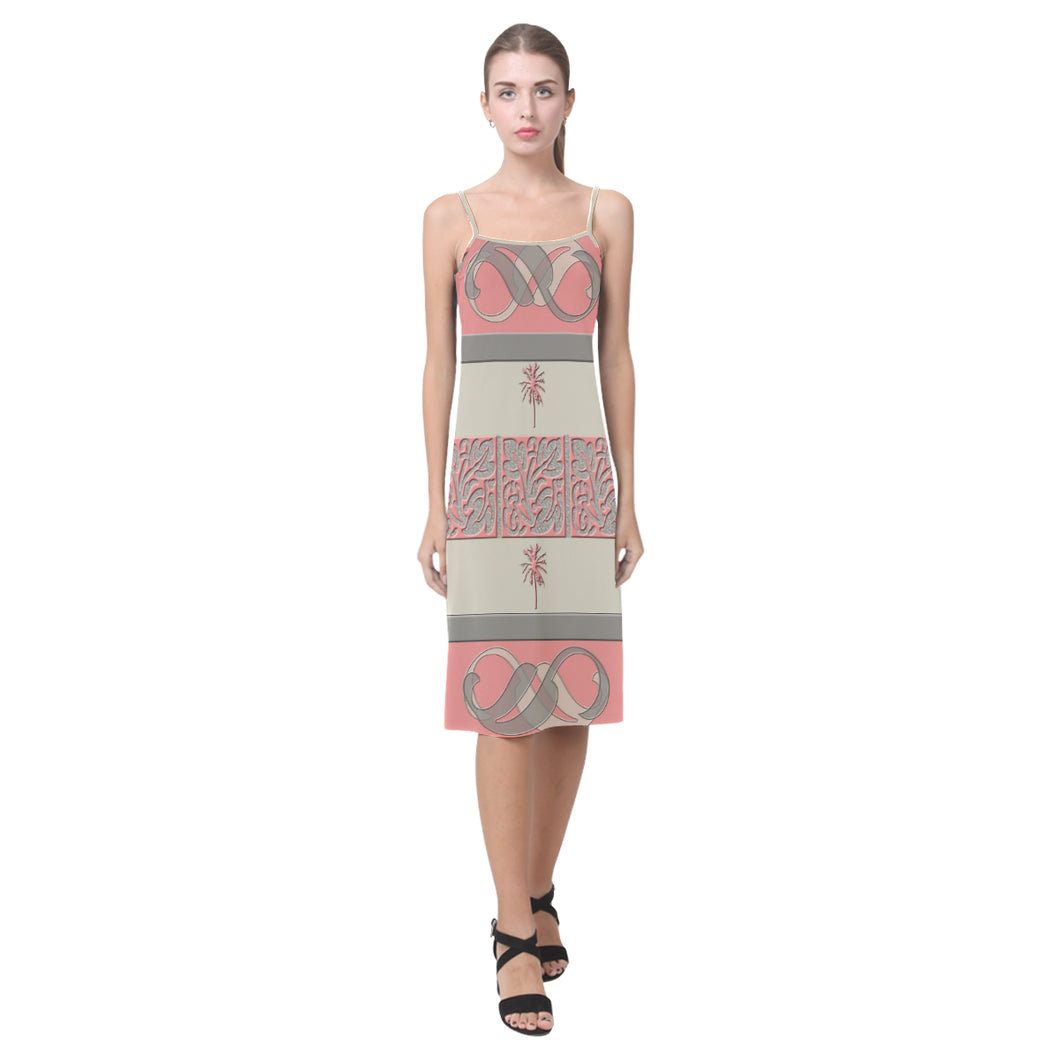 Cheery Coral Pink Alcestis Slip Dress (Model D05)