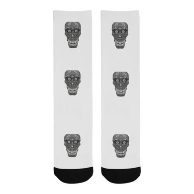 Cod Grey Skull Head Trouser Socks