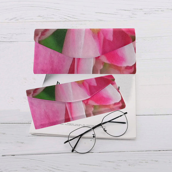 Pretty Pink Flowers Custom Foldable Glasses Case