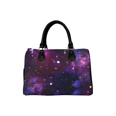 Midnight Blue Purple Galaxy Boston Handbag (Model 1621)