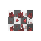 Burnt Crimson Flora Rectangle Mousepad