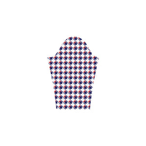 Red White Blue Houndstooth Bateau A-Line Skirt (D21)