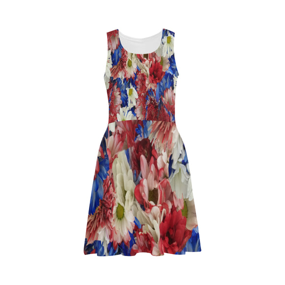 Red White Blue Flora Atalanta Sundress (Model D04)