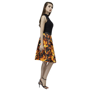 Harvest Moon Coins Melete Pleated Midi Skirt (Model D15)