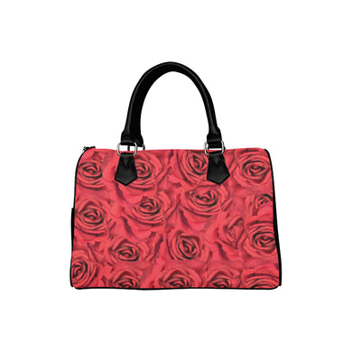 Radical Red Roses Boston Handbag (Model 1621)