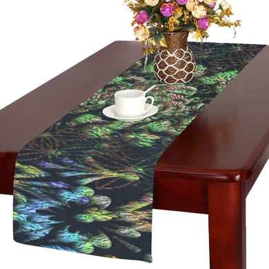 Black Russian Flora Table Runner 14x72 inch