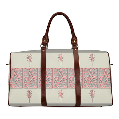Cheery Coral Pink Waterproof Travel Bag/Small (Model 1639)