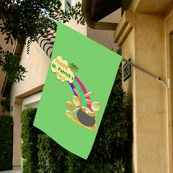 Rainbow Pot Gold Garden Flag 28''x40